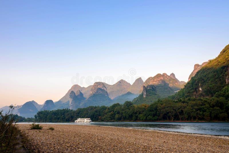Paysage de la rivière Lijiang image libre de droits