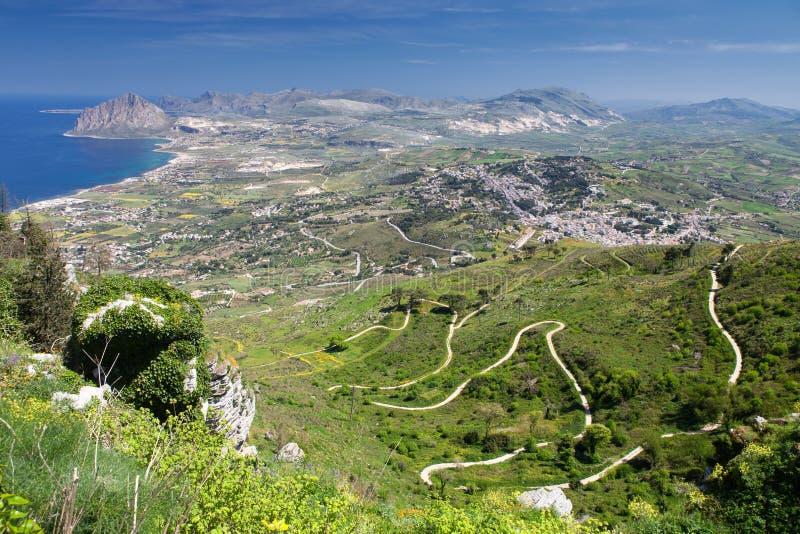 Paysage de la Sicile photographie stock libre de droits