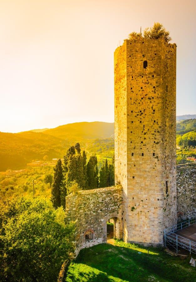 Paysage de la Toscane, Serravalle Pistoiese, Italie photographie stock