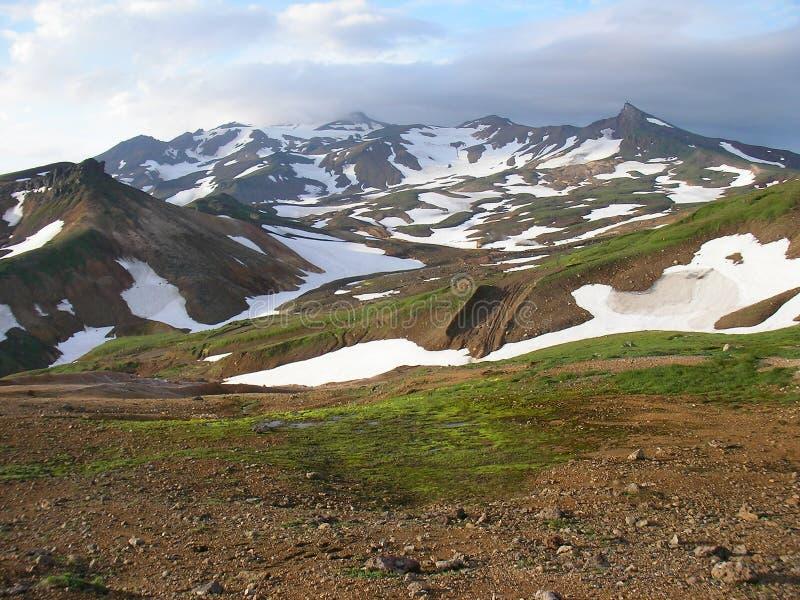 Paysage de la toundra des montagnes, péninsule du Kamchatka photo stock