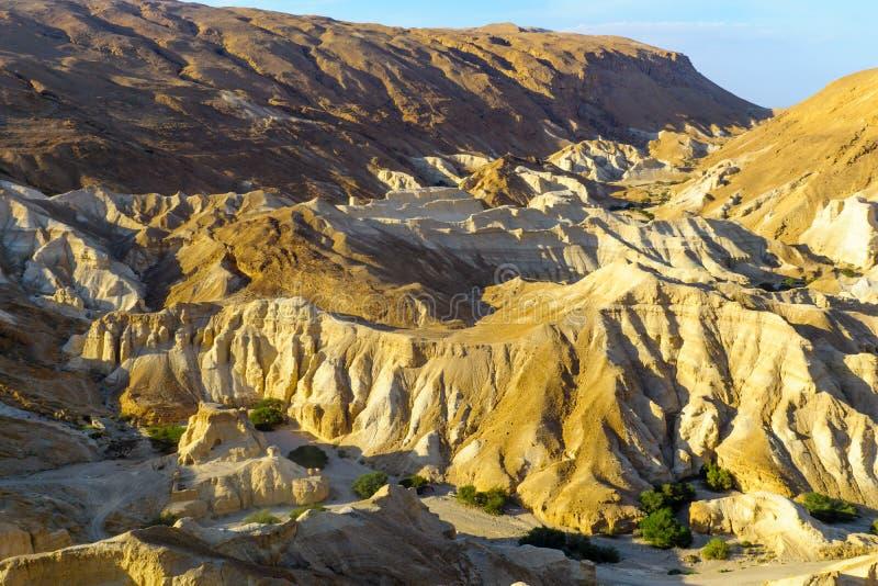 Paysage de la vallée de Zohar photos libres de droits