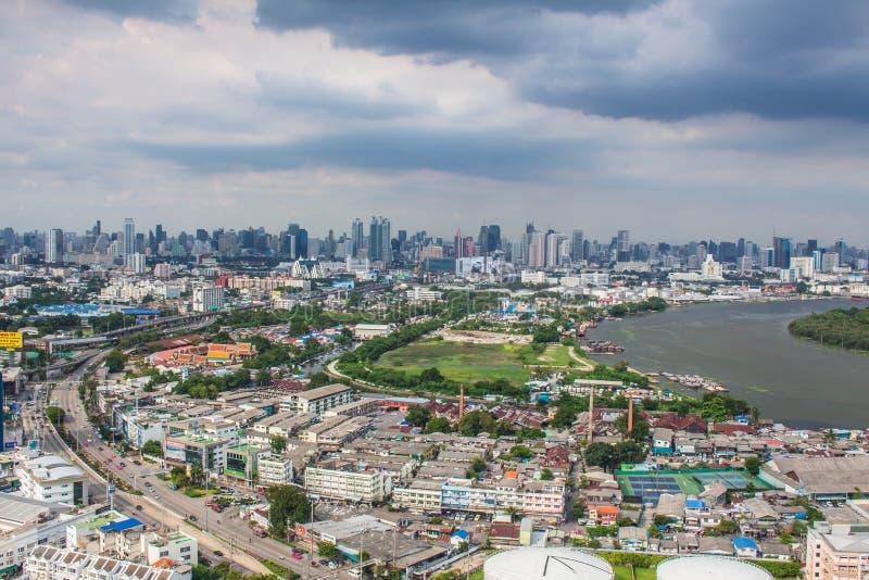 Paysage de la ville en Thaïlande images libres de droits