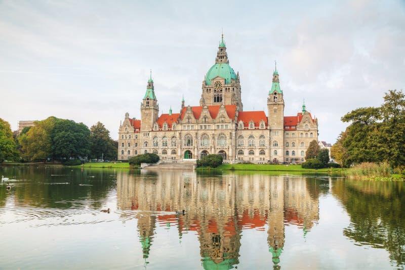 Paysage de la ville nouvelle Hall à Hannovre, Allemagne photo libre de droits