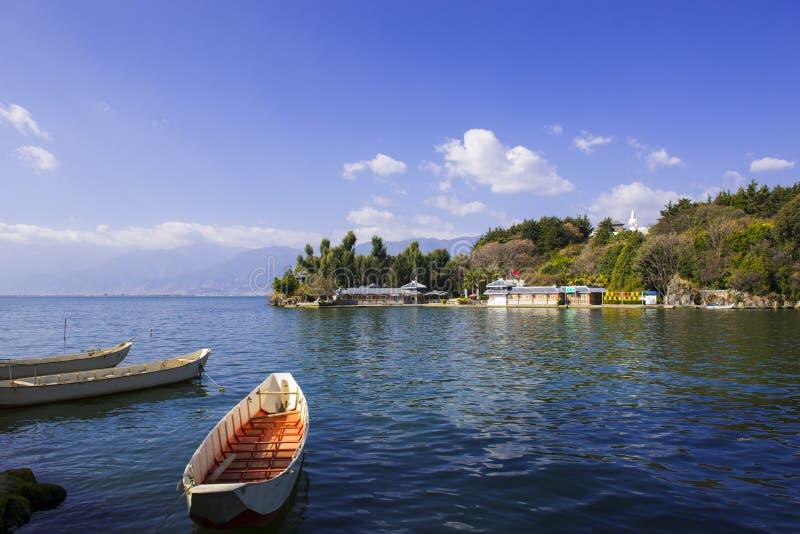 Paysage de lac Erhai images libres de droits