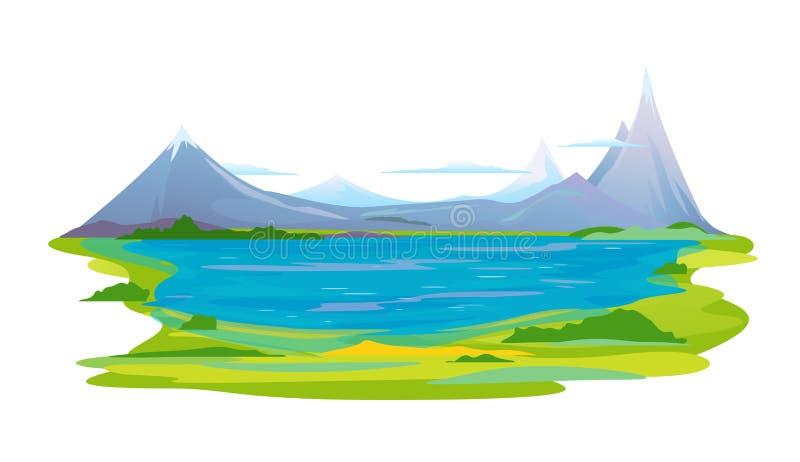 Paysage de lac mountain illustration stock