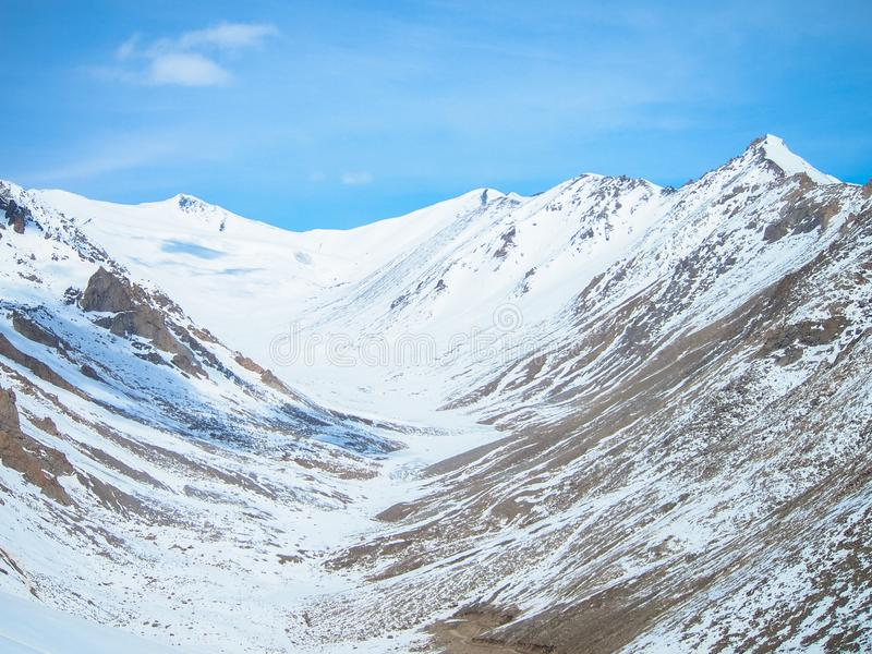 Paysage de ladakh de Lah, Inde photographie stock libre de droits