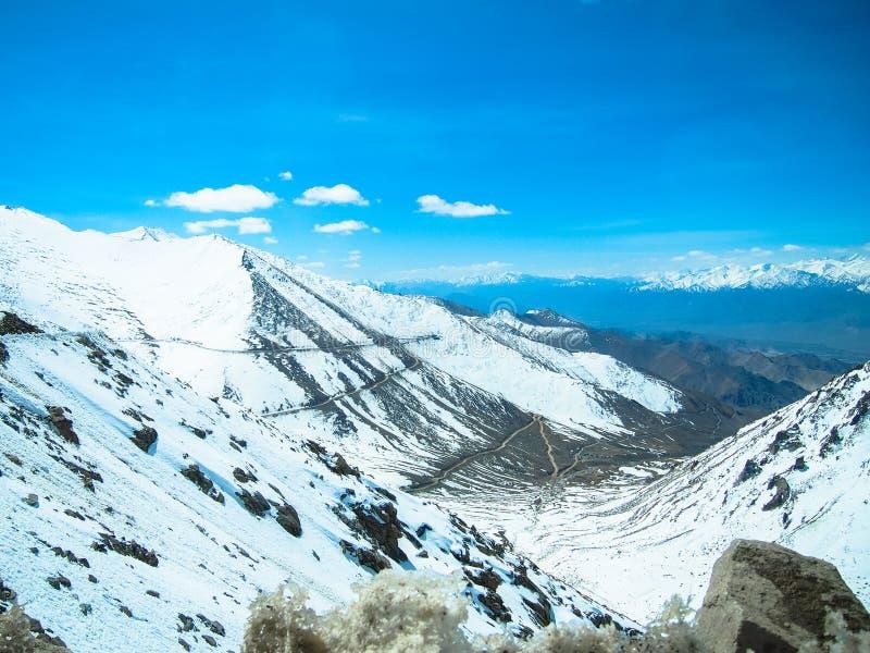 Paysage de ladakh de Lah, Inde photos libres de droits