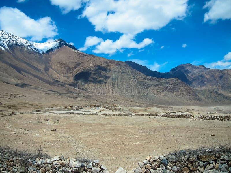 Paysage de ladakh de Lah, Inde photo stock