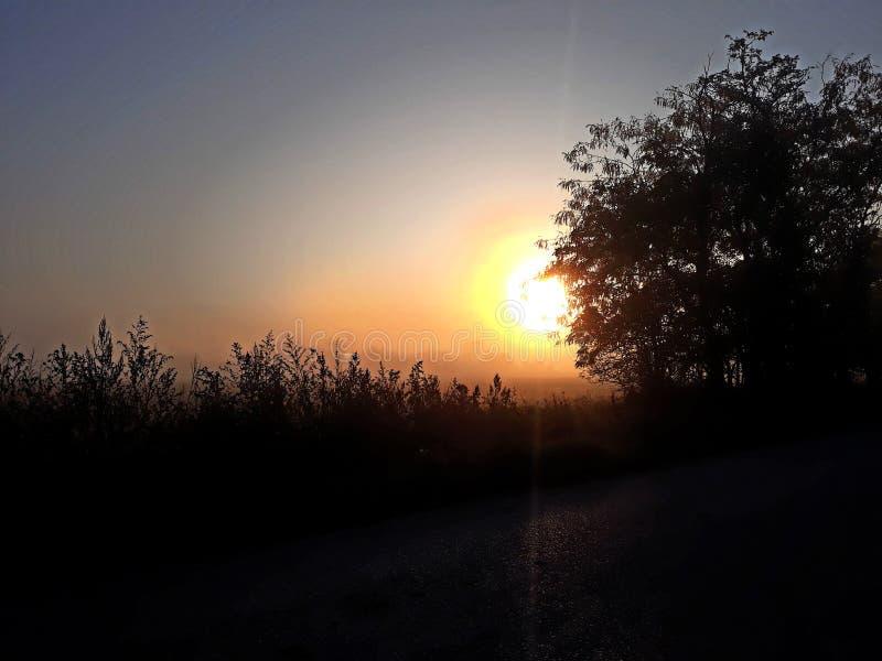 Paysage de lever de soleil images stock