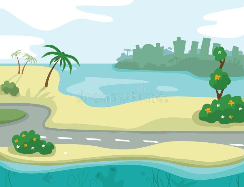 Paysage de mer illustration libre de droits