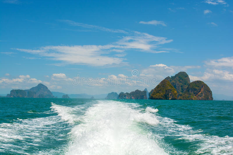 Paysage de mer en Thaïlande photographie stock libre de droits