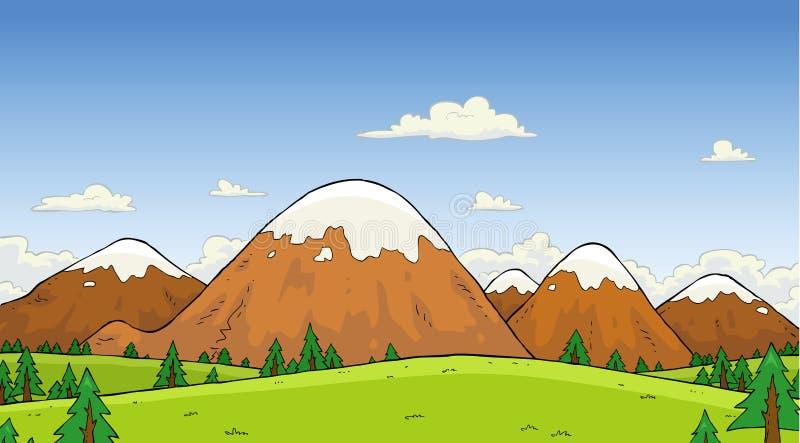 Paysage de montagne illustration libre de droits