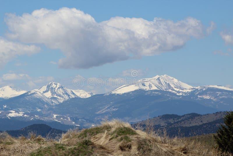 Paysage de montagne, butte, Montana photos libres de droits