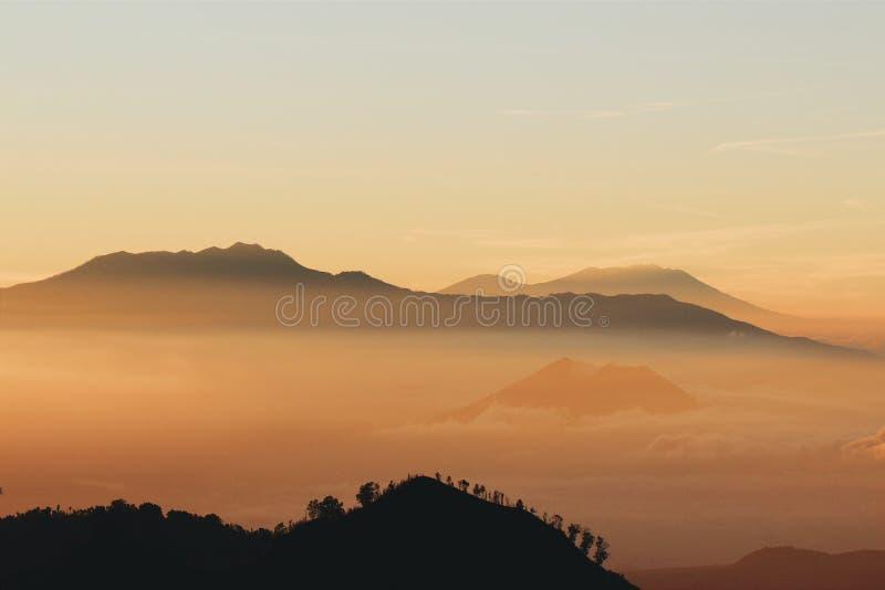 Paysage de montagne de Bromo photographie stock