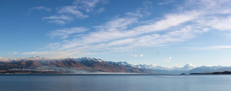Paysage de montagne de Pukaki de lac photos stock