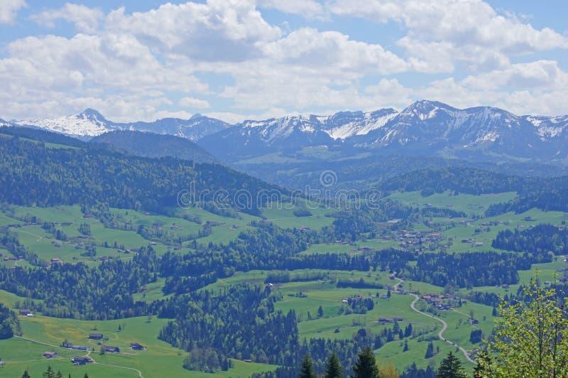 Paysage de montagne en Autriche images libres de droits