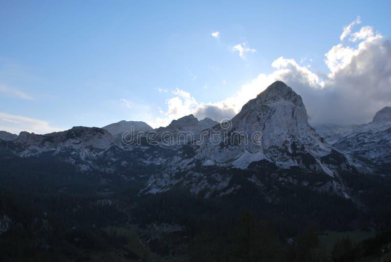 Paysage de montagne en Slovénie photos stock