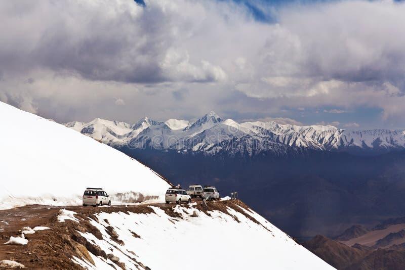 Paysage de montagne en vallée de Nubra, Ladakh image libre de droits