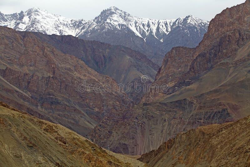 Paysage de montagne, Ladakh, Inde images libres de droits
