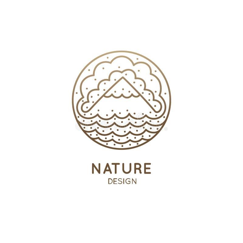Paysage de montagne de logo illustration libre de droits