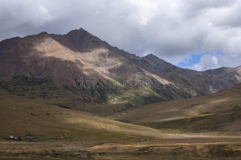 Paysage de montagne de neige sur le plateau 03 photographie stock libre de droits
