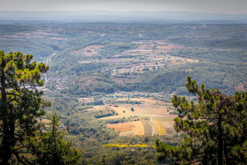 Paysage de montagne, Serbie photo libre de droits
