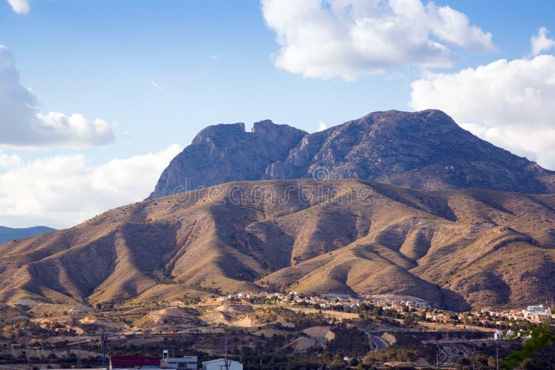 Paysage de montagnes près de Benidorm images stock