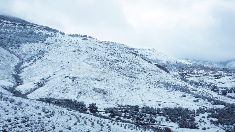 Paysage de neige de montagne photos libres de droits