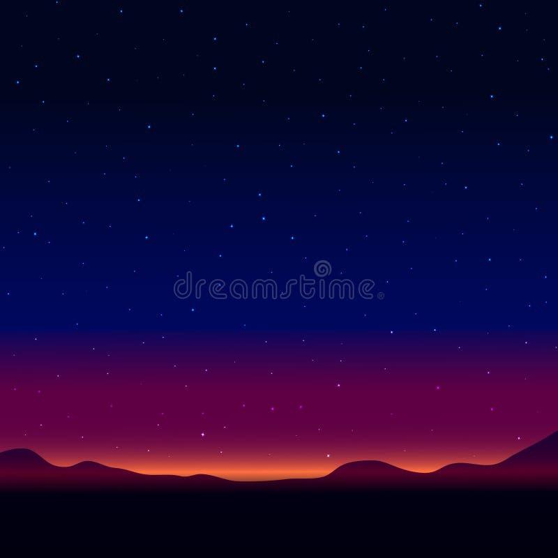 Paysage de nuit illustration libre de droits