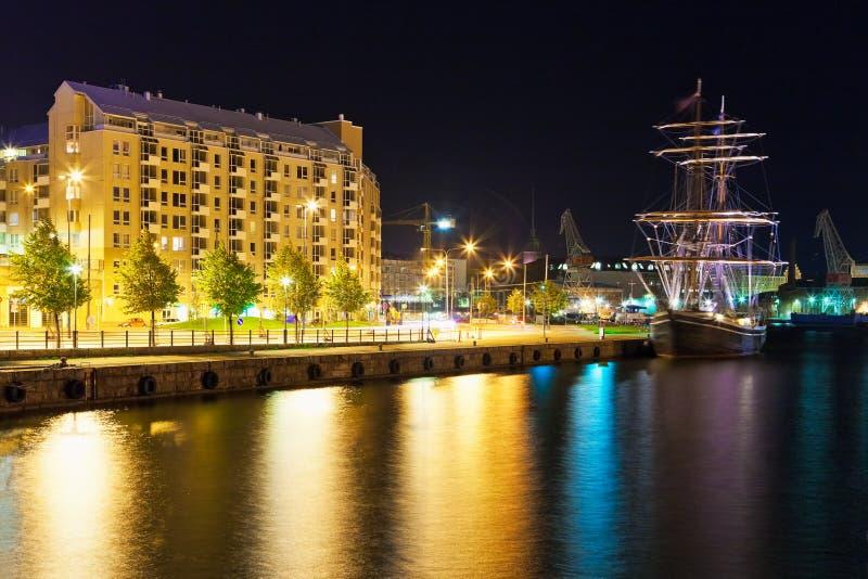 Paysage de nuit de Helsinki, Finlande photo libre de droits