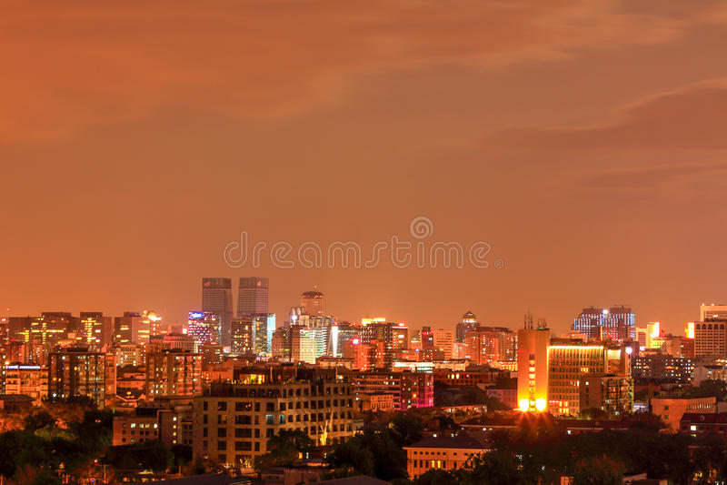 Paysage de nuit de Pékin photo libre de droits