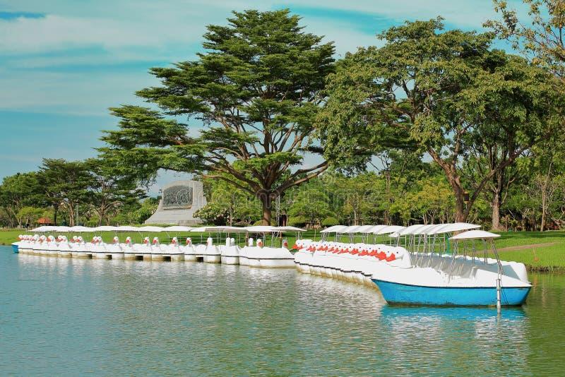 Paysage de panorama du règne 9 de Suan Luang chez la Thaïlande photos stock