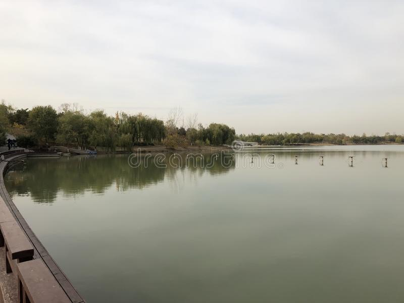 Paysage de parc de la Chine P?kin Nanhaizi beau images stock