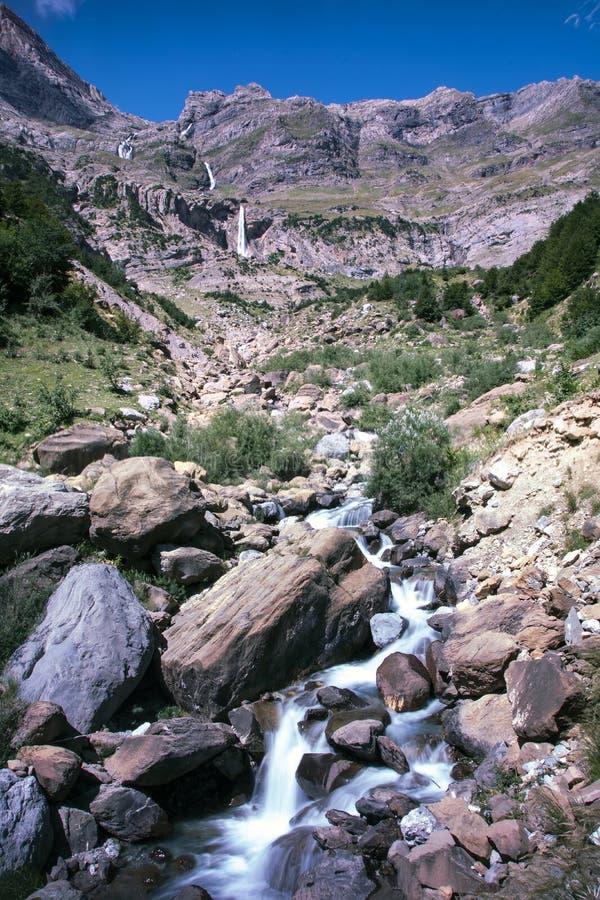 Paysage de parc national d'ordesa l'espagne images libres de droits