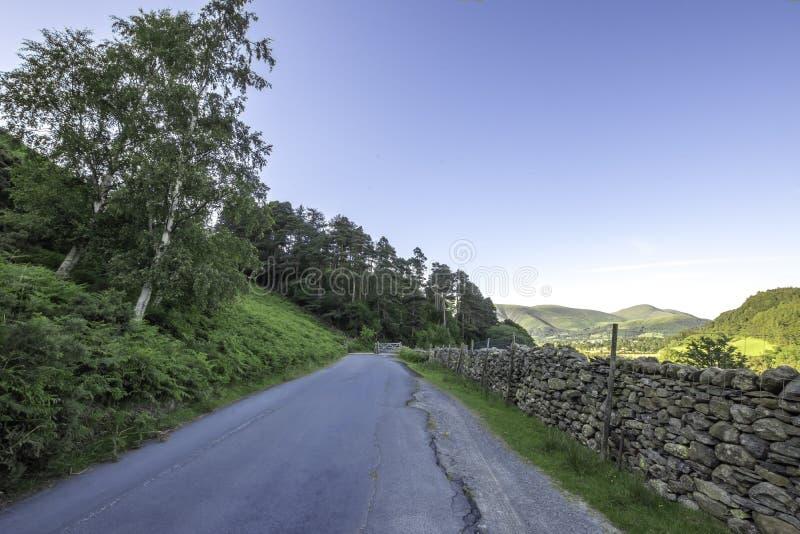 Paysage de parc national de secteur de lac, Cumbria, R-U, le printemps 2017 photo libre de droits