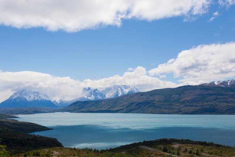 Paysage de parc national de Torres del Paine, Chili image stock