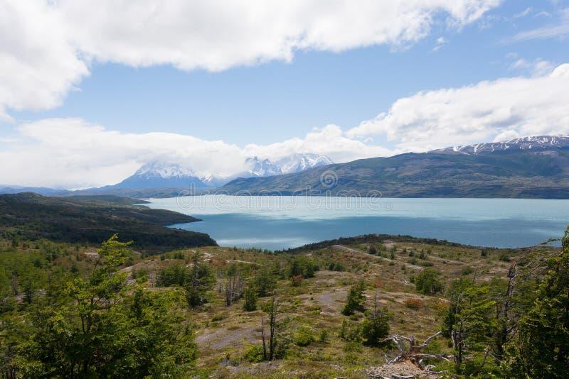 Paysage de parc national de Torres del Paine, Chili photographie stock libre de droits