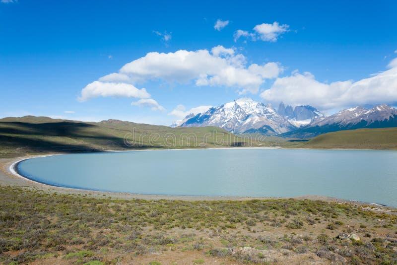 Paysage de parc national de Torres del Paine, Chili images libres de droits