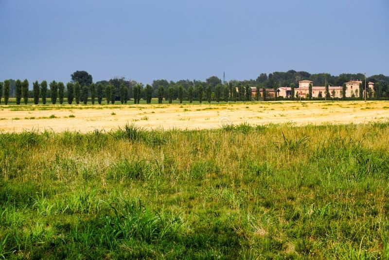 Paysage de pays près de Fiorenzuola Plaisance, Italie photo libre de droits
