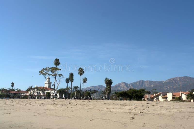 Paysage de plage avec des palmiers images stock