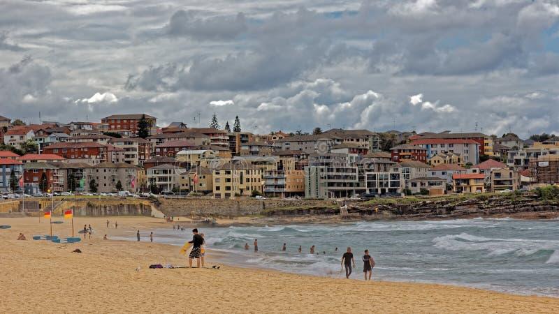 Paysage de plage de Sydney Bondi image libre de droits