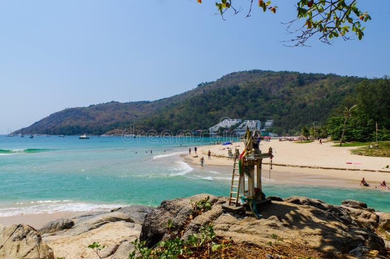 Paysage de point de vue de Phuket chez Nai Harn Beach Located dans la province de Phuket, Thaïlande photographie stock libre de droits