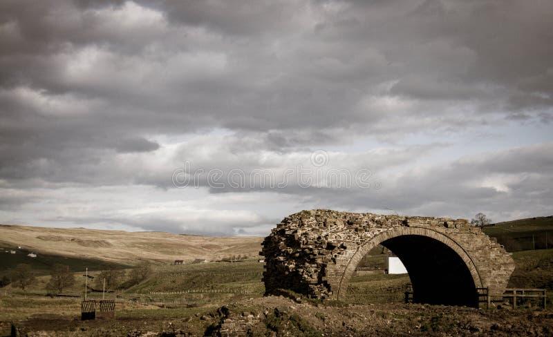 Paysage de pont abandonné photos libres de droits