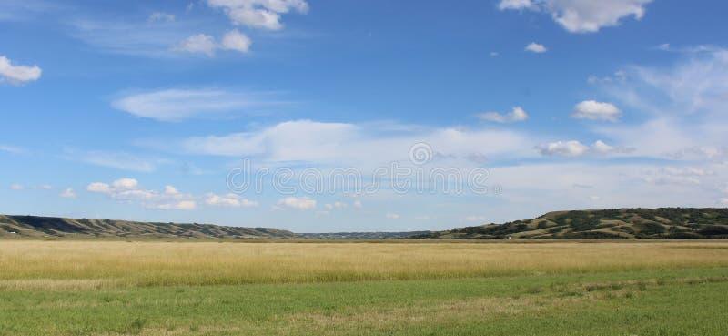 Paysage de prairies de Saskatechewan image libre de droits