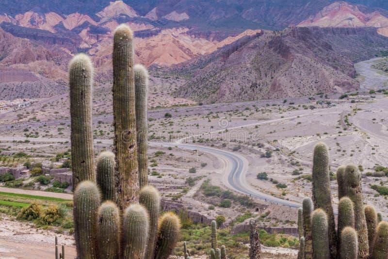 Paysage de Quebrada de Humahuaca près de village de Tilcara, Argenti images libres de droits