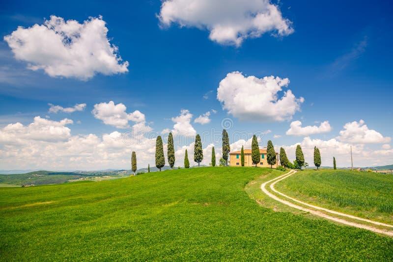 Paysage de ressort de la Toscane photos stock