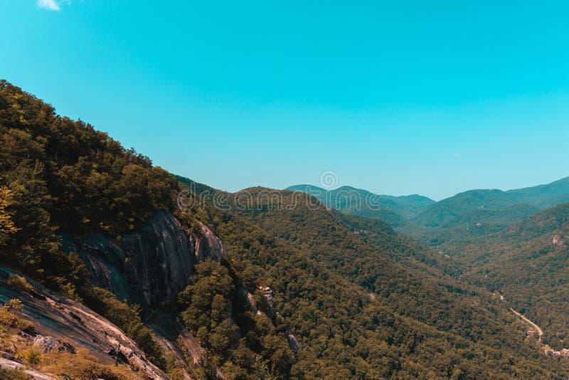 Paysage de Ridge Mountains bleu image stock