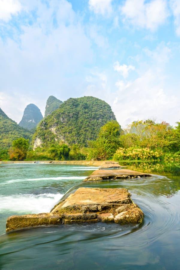 Paysage de rivière de Beautifu Yulong photos stock
