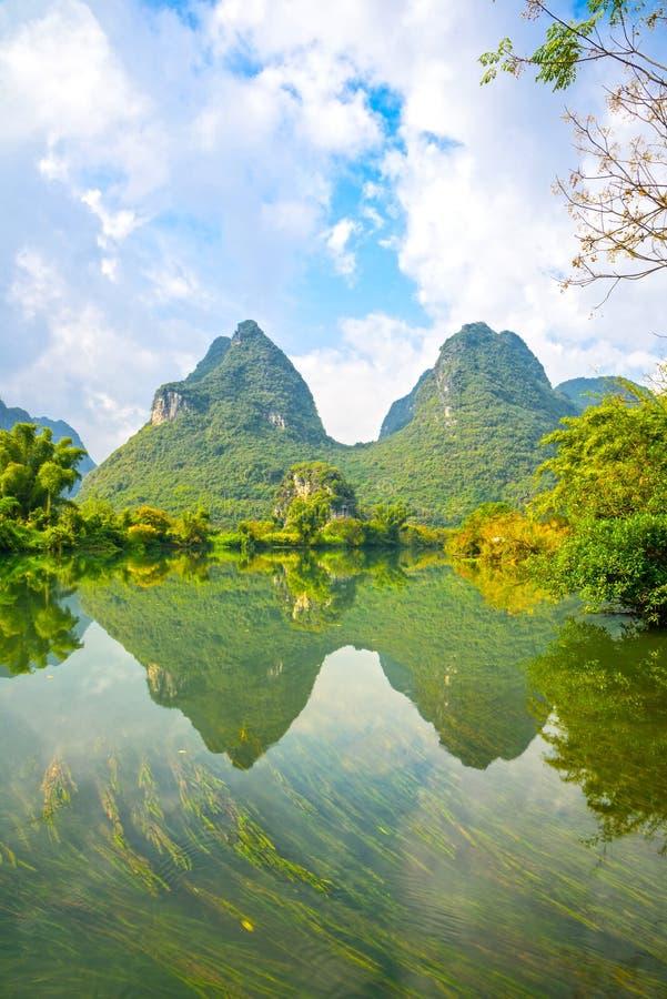 Paysage de rivière de Beautifu Yulong images libres de droits