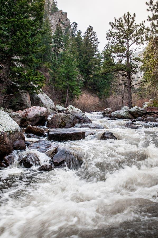 Paysage de rivière d'Estes Park Colorado Rocky Mountain images stock